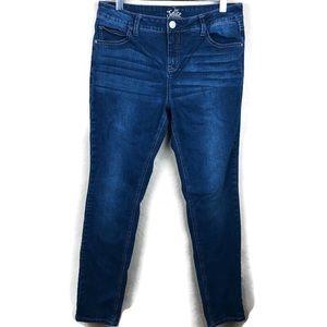 Justice Girls Super Skinny Jeans, Dark Size 16.5